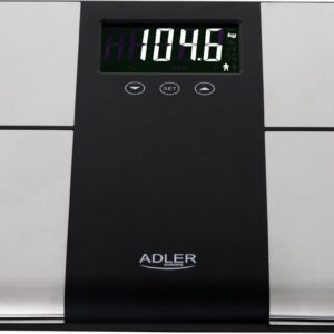 Adler AD 8165 weegschaal Elektronische weegschaal Rechthoek Zwart, Grijs (5902934838702)