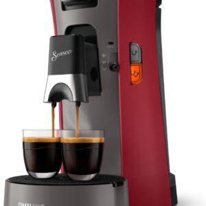 Philips Senseo Select CSA230/90 - Koffiepadapparaat - Dieprood en kasjmiergrijs (8710103932918)