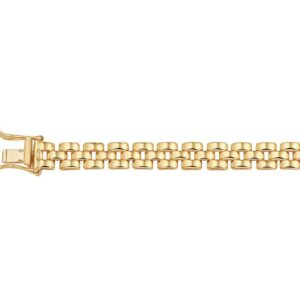 The Jewelry Collection Armband 6,3 mm 19 cm - Geelgoud (8718834477685)