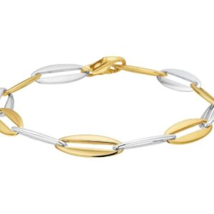 The Jewelry Collection Armband Anker 7,2 mm 19,5 cm - Bicolor Goud (8718834522699)