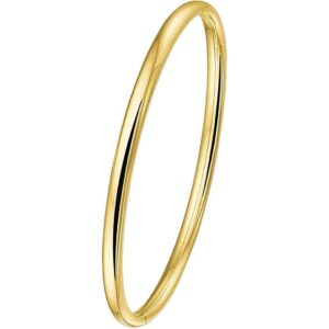 The Jewelry Collection Bangle Scharnier Halfronde Buis 4 X 60 mm - Geelgoud (8718834212026)