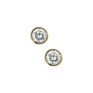 The Jewelry Collection Oorknoppen Diamant 0.30 Ct. - Geelgoud (8718834371440)