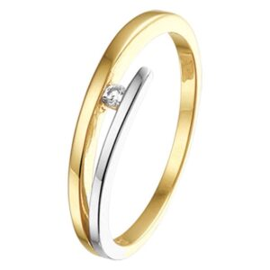 The Jewelry Collection Ring Diamant 0.03ct H Si - Bicolor Goud (8718834509096)