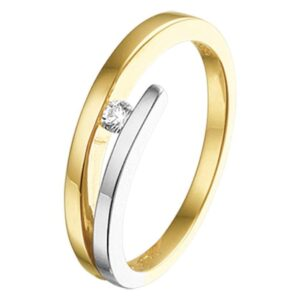 The Jewelry Collection Ring Diamant 0.05ct H Si - Bicolor Goud (8718834509157)