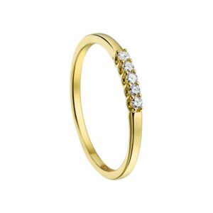 The Jewelry Collection Ring Diamant 0.10ct H Si - Geelgoud (8718834381258)