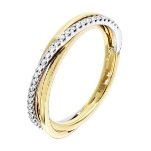 The Jewelry Collection Ring Diamant 0.12ct H Si - Bicolor Goud (8718834483259)