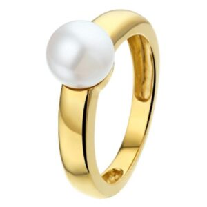 The Jewelry Collection Ring Parel - Geelgoud (8718834309238)