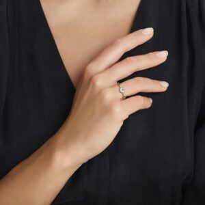 The Jewelry Collection Ring Zirkonia - Geelgoud (8718834283446)