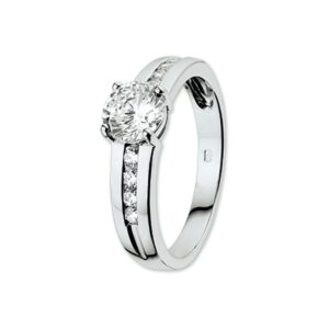 The Jewelry Collection Ring Zirkonia - Goud (8718834228294)