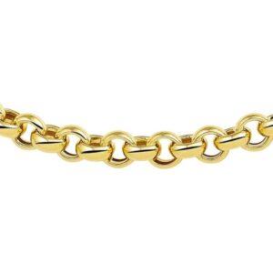 The Jewelry Collection ketting goud met zilveren kern - Jasseron 7 mm 45 cm (8718834425990)